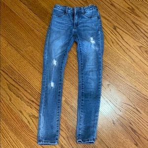 Girls size 12 skinny distressed jeans